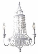 Feiss WB1605WSG Maarid Large 20 Inch Tall 2 Candle Wall Lighting - White Semi Gloss