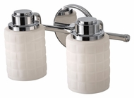Feiss VS32002-CH Wadsworth Chrome 2 Lamp Bath Sconce Light Fixture - 13 Inches Wide