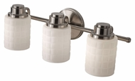 Feiss VS32003-BS Wadsworth Brushed Steel Finish Vanity Lighting For Bathroom - 3 Lamps