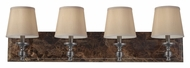 Feiss VS34004-PORB Carrollton 34 Inch Wide Plated Oil Rubbed Bronze Vanity Light
