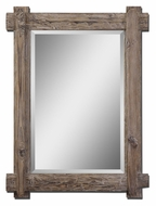 Uttermost 7635 Claudio Walnut Stained Wood Frame 39 Inch Tall Wall Mirror