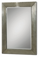 Uttermost 7638 Rashane Silver Champagne Aluminum Frame Home Mirror - 45 Inches Tall