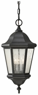 Feiss OL5911-BK Martinsville Classic 21 Inch Tall Lantern Pendant Light - Black