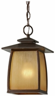 Feiss OL8511-SBR Wright House Sorrel Brown 12 Inch Tall Lantern Hanging Pendant Lighting
