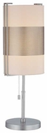 Lite Source LS21474SSWHT Maskera Contemporary Table light