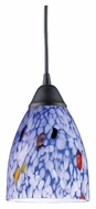 ELK 406-1BL Classico Starlight Blue 5 Inch Diameter Dark Rust Mini Pendant Lamp