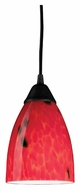 ELK 406-1FR Classico Fire Red 7 Inch Tall Dark Rust Mini Hanging Light Fixture