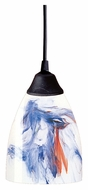 ELK 406-1MT Classico Dark Rust Finish Mountain Glass Lighting Pendant