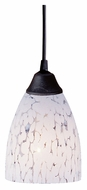 ELK 406-1SW Classico Snow White Dark Rust 5 Inch Diameter Mini Lighting Pendant