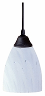 ELK 406-1WH Classico Dark Rust 5 Inch Diameter Simply White Glass Mini Drop Lighting