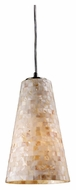 ELK 10142/1 Capri Cone Glass 6 Inch Diameter Stone Mosaic Bar Light