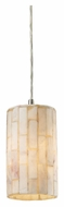 ELK 10147/1 Piedra 4 Inch Diameter Alabaster Mini Pendant Lighting Fixture