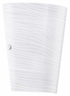 EGLO 91856A Caprice 9 Inch Tall Satinated White Glass Modern Sconce Lighting