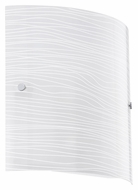EGLO 91857A Caprice Modern Satinated White Glass Wall Lighting - 11 Inches Tall