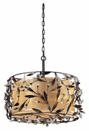 ELK 18132/3 Circeo Rustic Floaral Deep Rust 20 Inch Diameter Drum Pendant Light