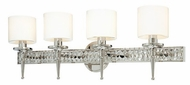 Troy B1924PN Collins 4 Light Diamond Crystal Wall Vanity Fixture