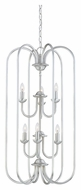 Thomas SL891878 Bella 31 Inch Tall Brushed Nickel Finish 6 Candle Foyer Light Fixture