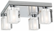 PLC 3486-PC Glacier Vanity Chrome Halogen Ceiling Light