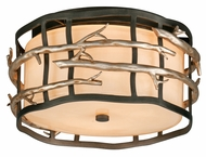 Troy C2880 Adirondack 2-light Rustic Flush Mount Ceiling Light