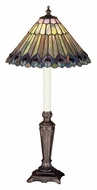 Meyda Tiffany 47840 Jeweled Peacock 23 Inch Tall Buffet Table Lamp - Tiffany
