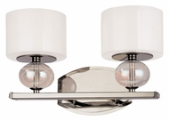 Troy B2852PN Fizz 14 Inch Wide Polished Nickel Modern Vanity Lighting With Colored Glass