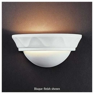 Justice Design 1030 Ambiance Small Cyma Wall Sconce w/ Waves