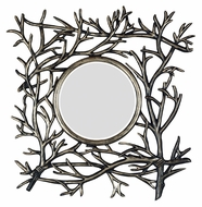 Kenroy Home 60006 Bramble Wall Mounted Dark Walnut Home Mirror