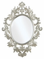 Kenroy Home 60010 Louis Traditional Style Ornate 38 Inch Tall Wall Mirror - Silver Leaf