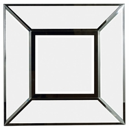 Kenroy Home 60022 Cubic Black 30 Inch Tall Square Wall Mounted Mirror