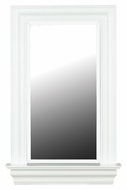 Kenroy Home 60028 Juliet White Gloss Finish 37 Inch Tall Window Mirror