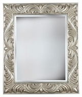 Kenroy Home 60030 Antoinette Traditional Style 38 Inch Tall Gilded Antique Silver Wall Mounted Mirror