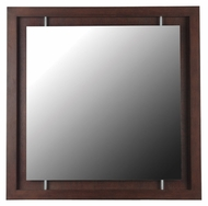 Kenroy Home 60031 Potrero Mahogany 34 Inch Tall Square Wall Mirror