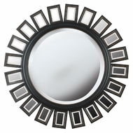 Kenroy Home 60040 Straus 34 Inch Diameter Circular Deep Espresso Finish Wall Mirror