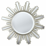 Kenroy Home 60041 Francisco Antique Silver Finish Round Wall Mounted Mirror - 34 Inch Diameter