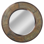 Kenroy Home 60087 Keene 32 Inch Diameter Natural Slate Finish Circle Wall Mounted Mirror
