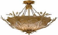 Crystorama 4707 Floral 25 inch 6-lite ceiling light in gold leaf