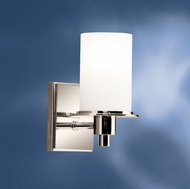 Kichler 5436PN Cylinders Modern Polished Nickel 8 Inch Tall Wall Sconce Lighting