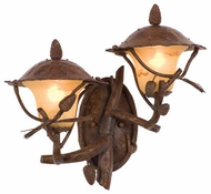 Kalco 9163 Ponderosa 2-Light Outdoor Wall Sconce, Right