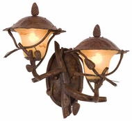Kalco 9162 Ponderosa 2-Light Outdoor Wall Sconce, Left