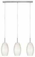 EGLO 88954A Batista I 3 Lamp Matte Nickel Finish Transitional Multi Pendant Lamp - 28 Inches Wide