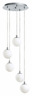 EGLO 90556A Ferrol 13 Inch Diameter Matte Nickel Finish Modern Multi Pendant Light