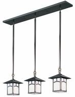 Arroyo Craftsman EICH-9/3 Evergreen Craftsman Multi Pendant - 37 inches wide