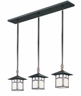 Arroyo Craftsman EICH-7/3 Evergreen Craftsman Multi Pendant - 36 inches wide
