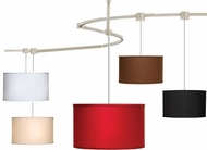 Tech TT-LEXINGTON T-Trak Lexington Fabric Drum Ceiling Light with Fluorescent Option