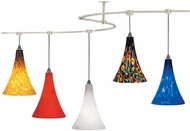 Tech TT-MELROSE T-Trak Melrose Glass Line-Voltage Pendant Light with Fluorescent Option
