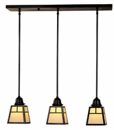 Arroyo Craftsman AICH-3 A-Line Craftsman 3-Light Multi Pendant