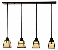 Arroyo Craftsman AICH-4 A-Line Craftsman 4-Light Multi Pendant