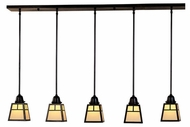 Arroyo Craftsman AICH-5 A-Line Craftsman 5-Light Multi Pendant