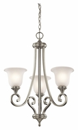 Kichler 43155NI Monroe 23 Inch Diameter Brushed Nickel 3 Lamp Ceiling Chandelier - Small
