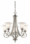 Kichler 43156NI Monroe Medium Brushed Nickel 27 Inch Diameter Hanging Chandelier